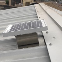 Solar metal RIDGEblaster for metal roof ventilation