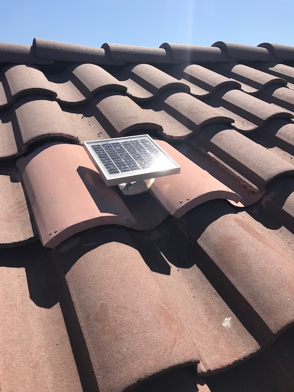 Solar Powered Tile Roof Ventilation Fan For O Hagin Quot S