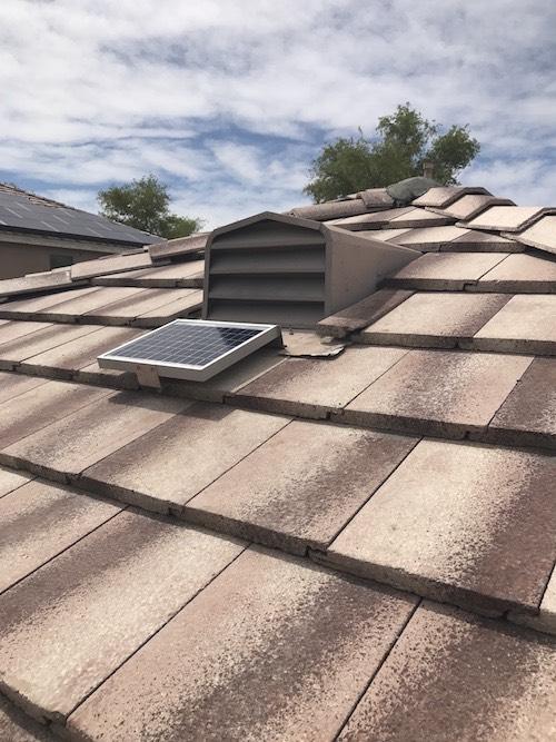 Solar Powered Tile Roof Ventilation Fan For Dormer